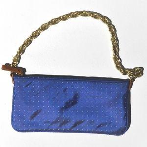 J. Crew purse | silk polkadot purse | chain strap